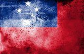 Grunge Samoa Flag