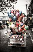 a car full of balloons animals in china