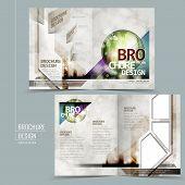 Modern Half-fold Template Brochure Design