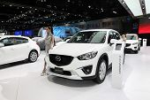 Bangkok - November 28: Mazda Cx-5 Car With Unidentified Model On Display At The Motor Expo 2014 On N