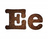 Letter E Rusty Metal.