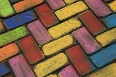 pic of street-art  - Photography of colored pavement - JPG