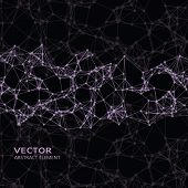picture of cybernetics  - Vector element of pink abstract cybernetic particles on black background - JPG