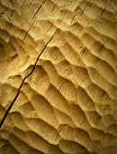 stock photo of woodcarving  - background or texture structure woodcarving yellow ocher color - JPG