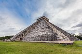 stock photo of mayan  - Chichen Itza Mayan Pyramid in Yucatan Mexico - JPG