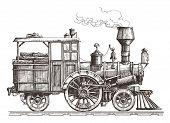 foto of locomotive  - sketch - JPG