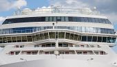 picture of cruise ship caribbean  - the Front of Massive White Luxury Cruise Ship with bridge - JPG