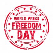 picture of freedom speech  - illustration of a grungy stamp for World Press Freedom Day - JPG