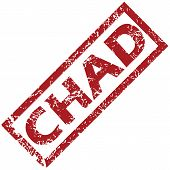 stock photo of chad  - New Chad grunge rubber stamp on a white background - JPG