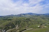 pic of akropolis  - Birds eye View of the Bergama town - JPG