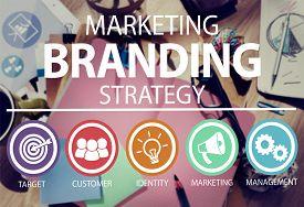 stock photo of messy  - Brand Branding Marketing Commercial Name Concept - JPG