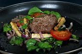 Summer Lunch With Spring Vegetables, Cherry Tomato & Steak poster