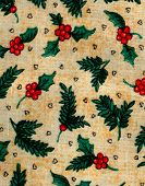 Vintage Holly Fabric