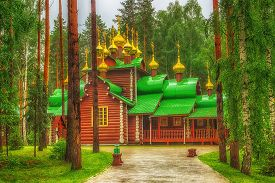 picture of ekaterinburg  - Monastery Holy Royal Martyrs in the tract Ganina Yama Ekaterinburg Russia - JPG