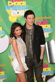 LOS ANGELES - APR 2:  Selena Gomez, Cory Monteith arriving at the 2011 Kids Choice Awards at Galen Center, USC on April 2, 2011 in Los Angeles, CA