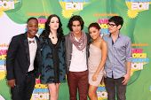 LOS ANGELES - APR 2:  Leon Thomas III, Elizabeth Gillies, Avan Jogia, Ariana Grande and Matt Bennett arriving at the 2011 Kids Choice Awards at Galen Center, USC on April 2, 2011 in Los Angeles, CA