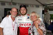 LOS ANGELES - APR 16:  Aj Buckley, Parents  at the Toyota Grand Prix Pro Celeb Race attend the Toyot