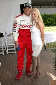 LOS ANGELES - APR 16:  Tito Ortiz, Jenna Jameson  attend the Toyota Grand Prix Pro Celeb Race at the