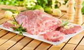 Raw chuck steak for barbecue