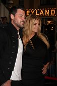 LOS ANGELES - MAY 7:  Maksim Chmerkovskiy, Kirstie Alley arriving at the