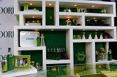 LOS ANGELES - MAY 10:  Atmosphere at the Kim Kardashian & Midori Melon Liqueur launches The Midori T