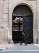 Bank gate in City of London