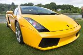 CONNECTICUT - MAY 18: Lamborghini Gallardo showing at Greenwich Concours d`Elegance antique car show.   June 06, 2009 in  Greenwich,CT.