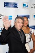 NEW YORK - APRIL 22: Tribeca Film Festival Co-Founder Robert De Niro and wife Grace Hightower attend the premiere of 'Whatever Works' during the 2009 Tribeca Film Festival at Ziegfeld on April 22, 2009 in New York, NY