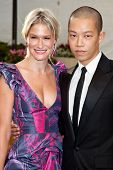 NEW YORK - SEPTEMBER 21: Julie Macklowe and Jason Wu attend the Metropolitan Opera 2009-10 season op