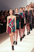NEW YORK - FEBRUARY 15:  Models walk the runway for the  Carlos Miele  collections  Mercedes-Benz Fa