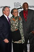 NEW YORK - DECEMBER 06: (L-R) Mayor Michael Bloomberg,  Marian Wright Edelman and  Geoffrey Canada a
