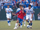 CARSON, CA. - JULY 3: Concacaf Gold Cup soccer match, Costa Rica vs. El Salvador at the Home Depot c