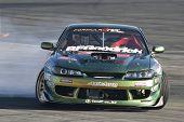 IRWINDALE, CA. - OCTOBER 16: Kenji Yamanaka competes at Toyota Speedway during Formula Drift round 7 on October 16th 2009 at the Toyota Speedway in Irwindale.