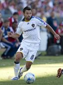 CARSON, CA. - NOVEMBER 1: Dema Kovalenko in action during the MLS conference semifinal match of Chivas USA vs. Los Angeles Galaxy at the Home Depot Center on November 1, 2009 in Carson.