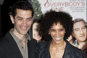 HOLLYWOOD, CA. - NOVEMBER 3: James Frain (L) and guest (R) attend the AFI Fest premier of Everybody'