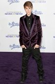 LOS ANGELES, CA - FEB 8: Singer Justin Bieber arrives at the Paramount Pictures Justin Bieber: Never