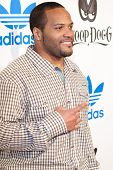 LOS ANGELES, CA. - FEB 19: NFL free agent fullback Carey Davis arrives at the NBA All-Star Weekend V