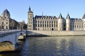 The Conciergerie and the river Seine in Paris