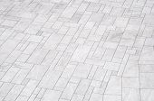 image of paving stone  - White paved floor - JPG