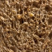 Detail of a seeded bread, macro shot