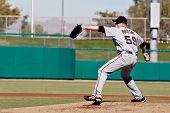 MESA, AZ - NOV 20: Kevin Pucetas of the Scottsdale Scorpions pitches in the Arizona Fall League baseball game with the Mesa Solar Sox on November 20, 2008 in Mesa, Arizona.
