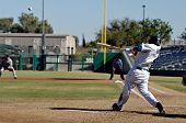 MESA, AZ - NOV 20: Darwin Barney of the Mesa Solar Sox swings at a pitch in the Arizona Fall League baseball game with the Scottsdale Scorpions on November 20, 2008 in Mesa, Arizona.