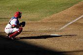 MESA, AZ - NOV 20: Lou Marson of the Mesa Solar Sox catches in the Arizona Fall League baseball game with the Scottsdale Scorpions on November 20, 2008 in Mesa, Arizona.