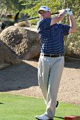 SCOTTSDALE, AZ - OCTOBER 21: Chad Campbell hits a drive in the Frys.com Open PGA golf tournament on