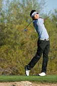 SCOTTSDALE, AZ - OCTOBER 22: Ryuji Imada hits a drive in the Frys.com Open PGA golf tournament on Oc