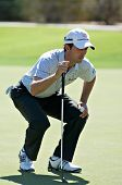SCOTTSDALE, AZ - OCTOBER 22: Mike Weir lines up a putt in the Frys.com Open PGA golf tournament on O