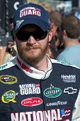 AVONDALE, AZ - APRIL 10: NASCAR driver Dale Earnhardt Jr. makes an appearance before the start of th