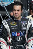 AVONDALE, AZ - APRIL 10: NASCAR driver Sam Hornish Jr. makes an appearance before the start of the S