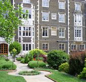 Historic london building and garden.