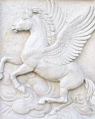 Flying horse figure.